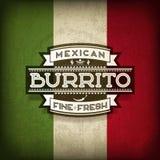 Mexicaanse burrito Royalty-vrije Stock Afbeeldingen