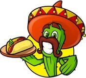 Mexicaanse Cactus met Taco stock illustratie