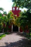 Mexicaanse de architectuurhistoria van kerkmerida churbunacolonial stock afbeelding