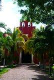 Mexicaanse de architectuurhistoria van kerkmerida churbunacolonial royalty-vrije stock fotografie