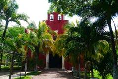Mexicaanse de architectuurhistoria van kerkmerida churbunacolonial royalty-vrije stock foto's