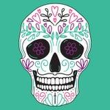 Mexicaanse eenvoudige suikerschedel Stock Fotografie