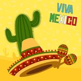 Mexicaanse Elementen Royalty-vrije Stock Afbeelding