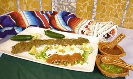 Mexicaanse enchiladas Stock Fotografie