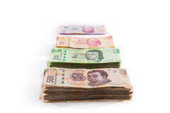 Mexicaanse geldachtergrond Stock Afbeelding