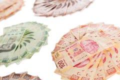 Mexicaanse geldachtergrond Royalty-vrije Stock Foto's