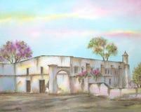 Mexicaanse Hacienda op Michoacan Royalty-vrije Stock Foto's