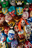 Mexicaanse het Worstelen Maskers Stock Afbeelding