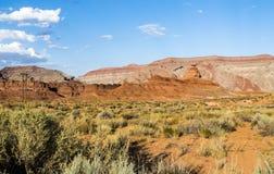 Mexicaanse Hoedenrots, de vallei van San Juan, de V.S. Hwy 163 - Utah Royalty-vrije Stock Afbeeldingen