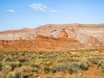 Mexicaanse Hoedenrots, de vallei van San Juan, de V.S. Hwy 163 - Utah Royalty-vrije Stock Foto's