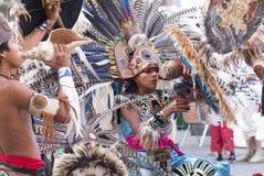 Mexicaanse Indische danser Royalty-vrije Stock Foto