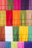 Mexicaanse kleurenrebozos Stock Foto's