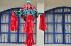 Mexicaanse kleurrijke piñata Stock Afbeelding
