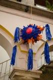 Mexicaanse kleurrijke piñata Stock Afbeeldingen