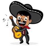Mexicaanse mariachimens die de gitaar spelen vector illustratie