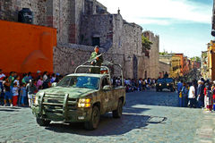 Mexicaanse Militaire Parade Stock Foto
