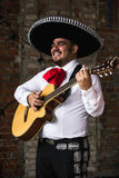 Mexicaanse musicimariachi in de studio royalty-vrije stock foto's