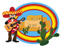 Mexicaanse Musicus vector illustratie