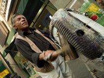 Mexicaanse musicus op de straten van Mexico-City Royalty-vrije Stock Foto