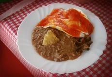 Mexicaanse ontbijtschotel Royalty-vrije Stock Afbeeldingen