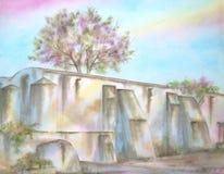 Mexicaanse Oude Ruïnes Hacienda Stock Afbeelding