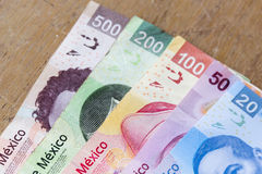 Mexicaanse peso's Stock Fotografie