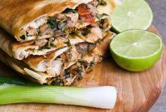 Mexicaanse quesadillas stock fotografie