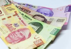 Mexicaanse rekeningen van verschillende waarden Royalty-vrije Stock Afbeelding