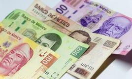 Mexicaanse rekeningen van verschillende waarden Royalty-vrije Stock Fotografie