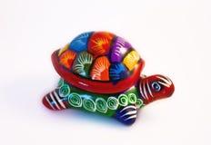 Mexicaanse schildpad in terracotta royalty-vrije stock foto