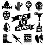 Mexicaanse silhouetten Royalty-vrije Stock Foto's