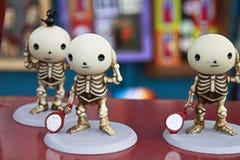 Mexicaanse skeletpoppen stock fotografie