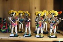 Mexicaanse skeletpoppen royalty-vrije stock foto