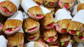 Mexicaanse snack genoemd die torta in dit miniatuursuikergoed wordt vertegenwoordigd stock fotografie