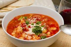 Mexicaanse soep Royalty-vrije Stock Afbeeldingen