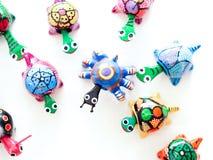 Mexicaanse stuk speelgoed schildpadden Royalty-vrije Stock Foto's