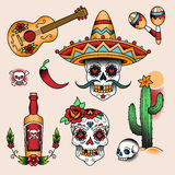 Mexicaanse Symbolen stock illustratie