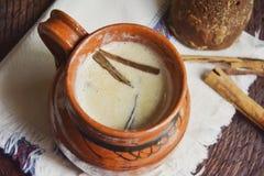 Mexicaanse traditionele hete drank, atole Stock Afbeelding