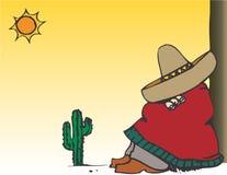Mexicaanse typische luie mens Stock Fotografie