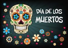Mexicaanse vakantie vectorillustratie voor Dag van dood of Dia D royalty-vrije stock afbeelding