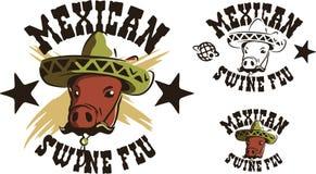 Mexicaanse varkensgriep stock illustratie