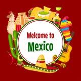 Mexicaanse vectoraffiche Cinco de Mayo 5 Mei-vakantie