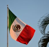 Mexicaanse Vlag Royalty-vrije Stock Foto's
