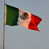 Mexicaanse Vlag Stock Afbeelding