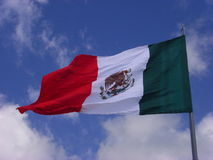 Mexicaanse vlag Stock Afbeelding