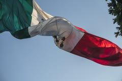 Mexicaanse Vlag Royalty-vrije Stock Afbeelding