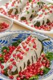 Mexicaanse voedsel van Chiles het Engelse nogada Stock Foto's