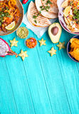 Mexicaanse voedselachtergrond Royalty-vrije Stock Foto's