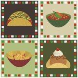 Mexicaanse voedseldecoratie Stock Afbeeldingen