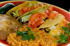 Mexicaanse voedselplaat Stock Foto's